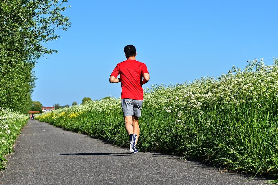 bėgimas vyras